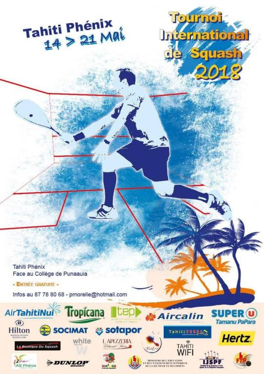 Tournoi international de squash Tahiti 2018